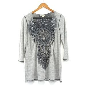 Live & Let Live grey mandala yoga long sleeve tee